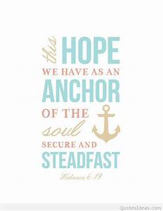 Bible Quotes About Anchors. QuotesGram