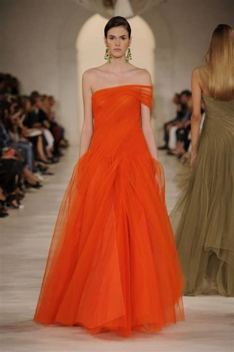 fashion show ralph lauren spring summer dress