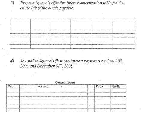 Solved: Bonds Payable (effective-interest Amortization) Sq ...