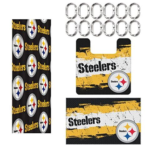 Pittsburgh Steelers Bathroom Set by Steelers Curtains Pittsburgh Steelers Curtain Steelers