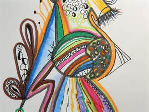 Colored Pen and Ink Drawings