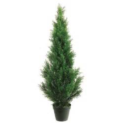 home 4 foot outdoor artificial cedar tree potted chainimage