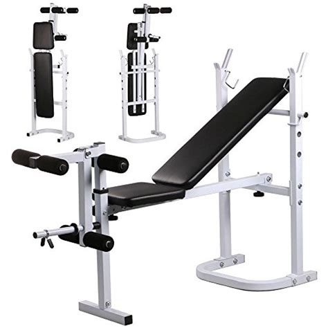 Bench Press At Home by Yaheetech Weight Bench Fitness Workout Home Exercise