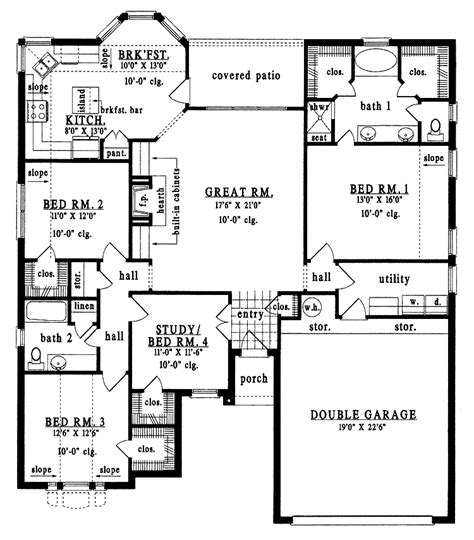 unique  bedroom house plans  bedroom bungalow house