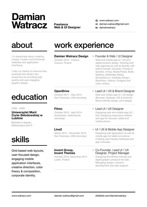 Easy Cv Template by Resume With Layout Easy To Read Font Cv Graphic