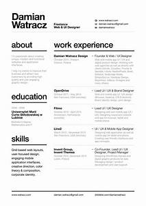Resume With Nice Layout  U0026 Easy To Read Font