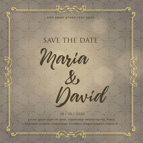 wedding invitation card design  decorative elements