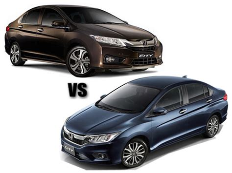 Comparison 2017 Honda City Facelift Vs Old Honda City