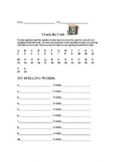 English Worksheets Crack The Code Spelling Word Practice