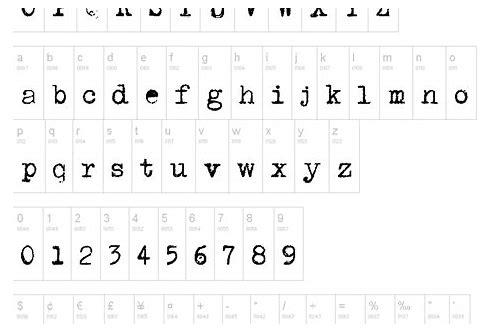 baixar fonte de máquina de escrever marathia