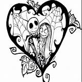 Coloring Pages Tattoo Nightmare Before Christmas Disney Printable Drawings Sally Clipart Tops Jack sketch template