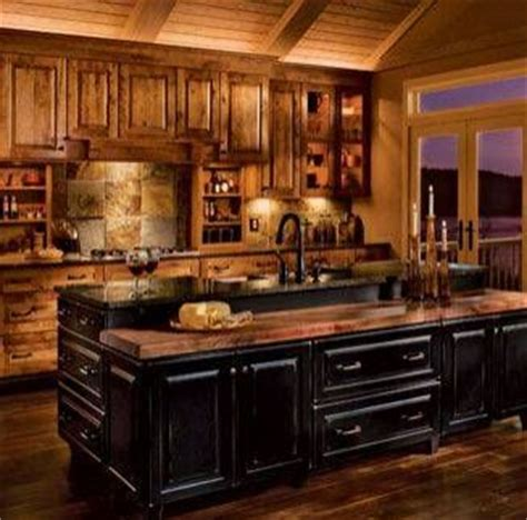 kitchen  black rustic cabinets kitchen cabinets