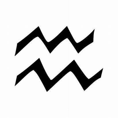 Aquarius Symbol Horoscope Sticker Vinyl Assault Scope