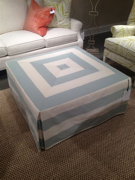 An Ottoman by My Dish Towel Ottoman Slipcover Office Craft Room Update
