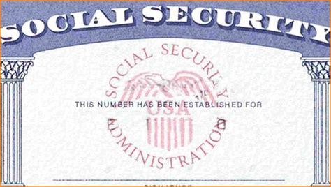 blank social security card template social security card template incheonfair