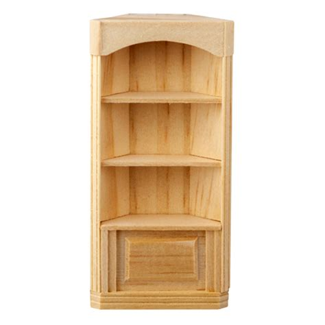 scale houseworks  shelf corner bookcase  real