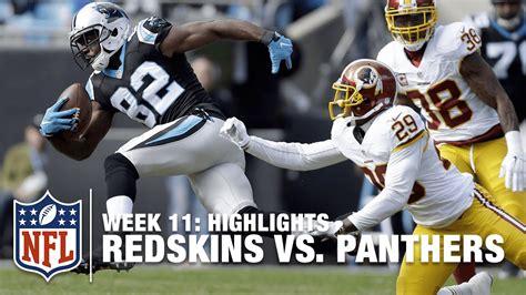 redskins  panthers week  highlights nfl youtube