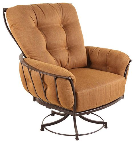 monterra swivel outdoor rocker club chair with cushion