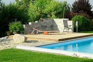 Pool Mit Holzterrasse : mauern bruckmeier garten und landschaftsbau ~ Whattoseeinmadrid.com Haus und Dekorationen