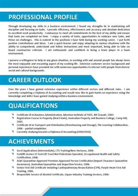 catching eye resume