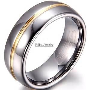 cheap mens engagement rings 8mm width mens gold inset tungsten carbide ring aniversary engagement tungsten wedding rings