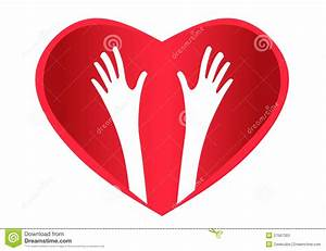 Helping Hands Heart logo stock vector. Illustration of ...