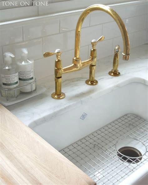unlacquered brass gooseneck kitchen faucet tone on tone a diy chalkboard