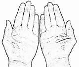 Hands Coloring Praying Drawing Hand Prayer Finger Five Popular Photographs Getdrawings Properties Coloringhome sketch template