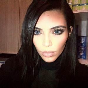 Kim Kardashian and Kanye West Rock Bright Blue Colored ...
