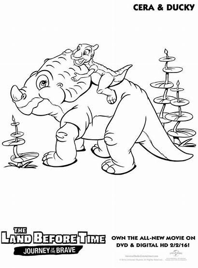 Land Before Coloring Ducky Pages Cera Dinosaur