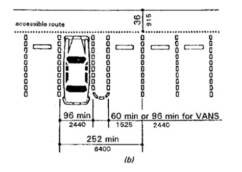 average width of a parking space 1994 architectural barriers texas accessibility standards tas
