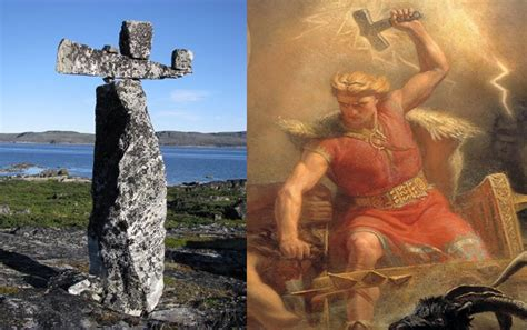 mysterious hammer of thor in canada was built before the