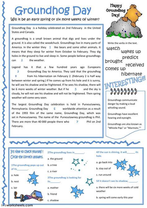 groundhog day interactive worksheet