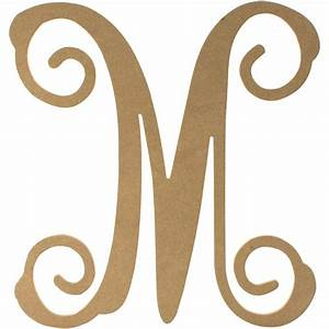 12quot wood letter vine monogram m ab2208 craftoutletcom With vine monogram wood letters