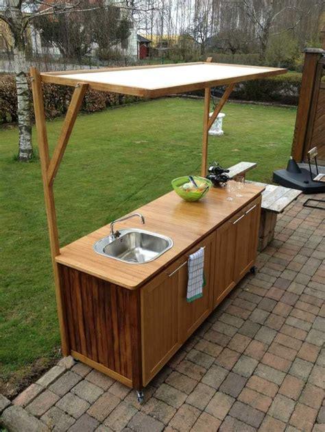 meuble cuisine exterieure bois meuble cuisine extérieur idées et conseils rangement pratique