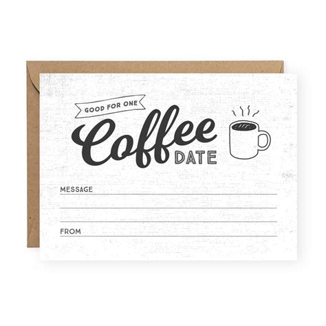 Are you looking for free coffee card? Coffee Date Greeting Card - Friendship Card - The Anastasia Co.