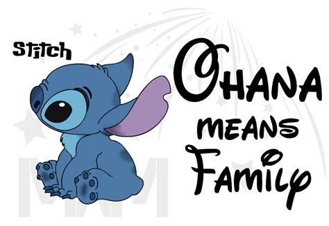 Stitch Ohana Means Family