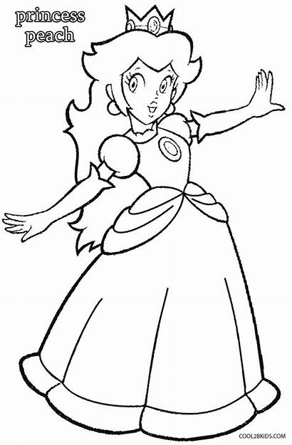 Peach Princess Coloring Pages Cool2bkids Printable Mario