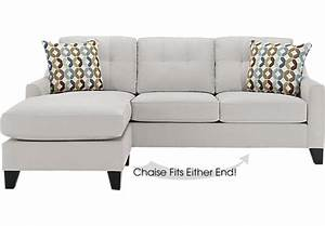 Cindy crawford home madison place platinum 2 pc sectional for Olympian platinum 2pc sectional sofa dimensions