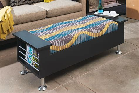 how to make a storage ottoman make a high style storage ottoman my home my style