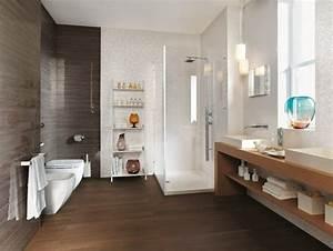 carrelage de salle de bains original 90 photos inspirantes With carrelage marron salle de bain