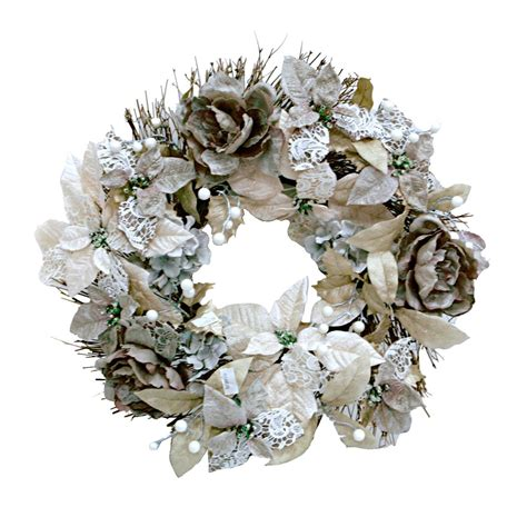lace poinsettia wreath  home  images