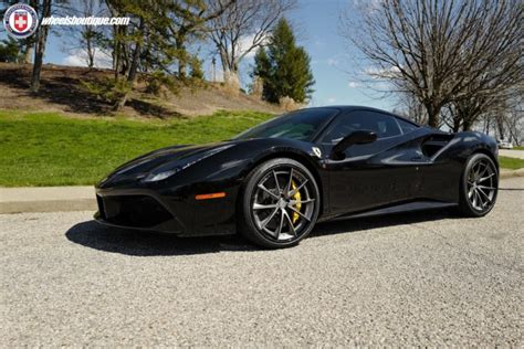 The wheels are sized 21x9.5 and 22x12.5 in the front and rear, respectively. ferrari, 488, Gtb, Hre, Wheels, Cars, Black Wallpapers HD ...