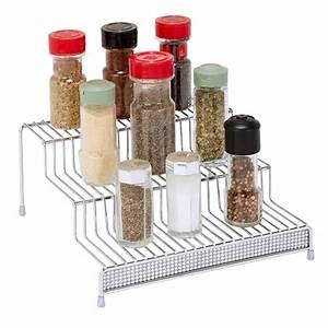 Kitchen, Details, 3-tier, Chrome, Spice, Rack, Shelf, Organizer, In, Pave, Diamond, Design-22904-chr