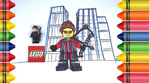 how to draw lego hawkeye avenger infinity war coloring