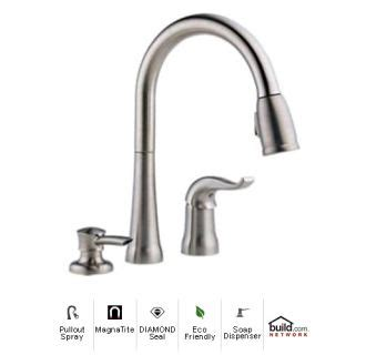 delta kate kitchen faucet faucet com 16970 sssd dst in brilliance stainless by delta