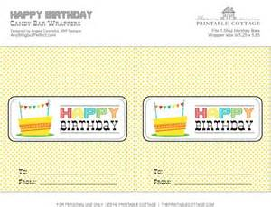 Free Printable Happy Birthday Candy Bar Wrapper