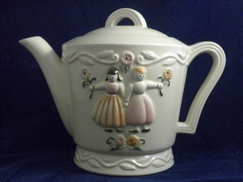 Vintage Porcelier Vitreous Hand Made China Tea Pot Made N Usa Dutch Girls Can I Use A Polyester Shower Curtain Without Liner Waffle Grey Creative Holdbacks Putting Curtains With Blinds Yellow Living Room Ideas Blackout For Baby Fairy Light Nz Oval Rods