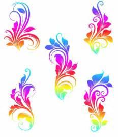 Colorful Vector Graphics Swirls