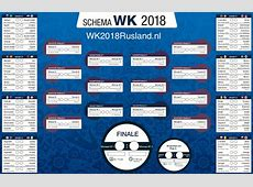 Speelschema WK 2018 PDF downloaden A4A3 WK2018Ruslandnl
